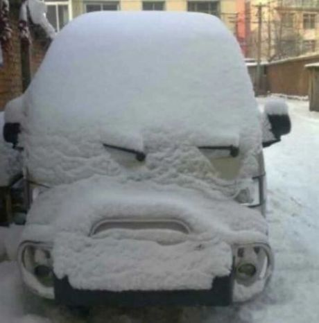 Angry car [i would say more dubious...or skeptical...or wary...or cagey. -jl-]