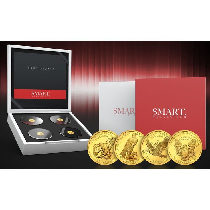 2016 Fiji 4 X 1/2 Gram Smart Collection Eagle Gold Proof Coin Set