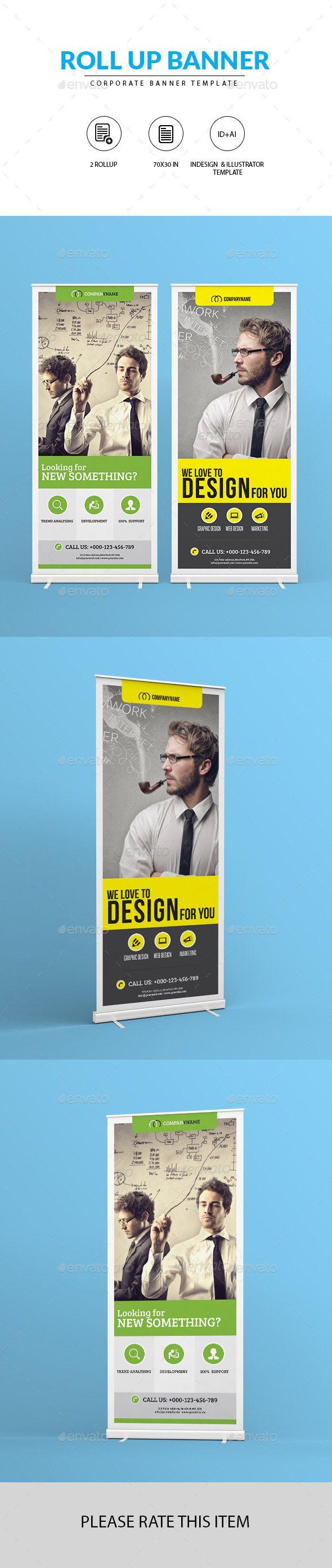 Design large banner in illustrator - Corporate Roll Up Banner
