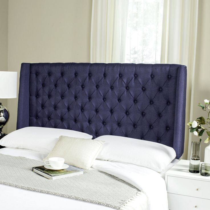 Bedroom Color Ideas With Dark Furniture Bedroom Decorating Ideas With Tufted Headboard Zen Master Bedroom Ideas Bedroom Color Ideas Gray: 17 Best Ideas About Navy Headboard On Pinterest