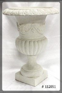 Planter 30 inch tall  21.5 round top  ivory