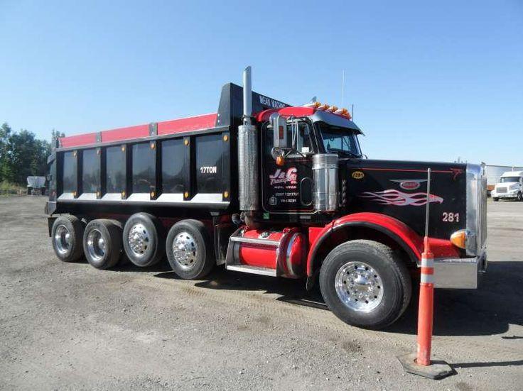 Peterbilt Quad Axle Dump Truck   Trucks   Pinterest ...