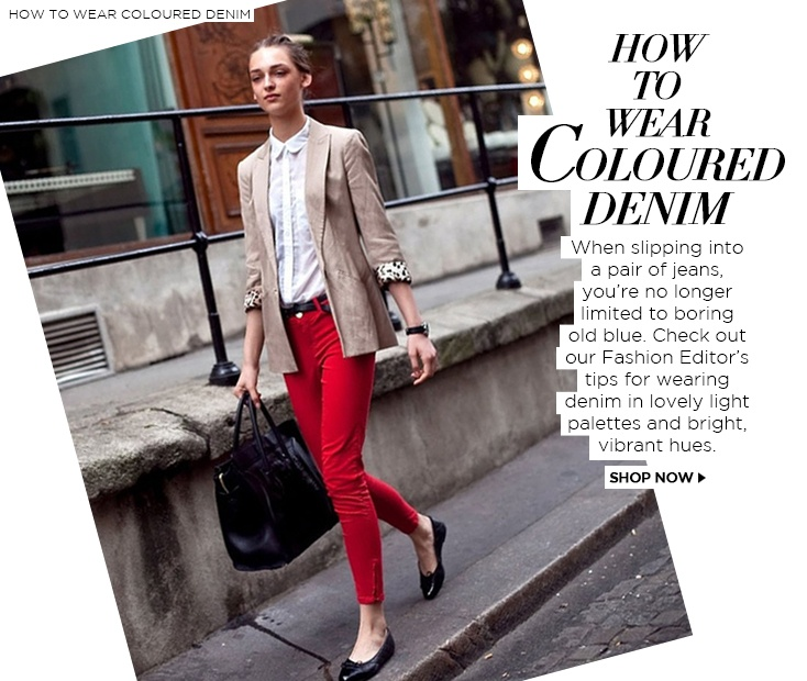How TO WEAR COLOURED DENIM