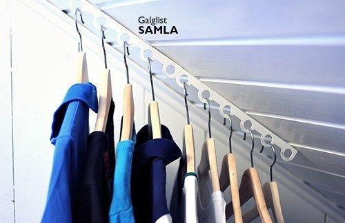 Galglist - Samla Unika förvaringsprodukter och smart väggförvaring Montera i befintlig hylla, snedtak eller tak. Går att bygga på med flera lister.