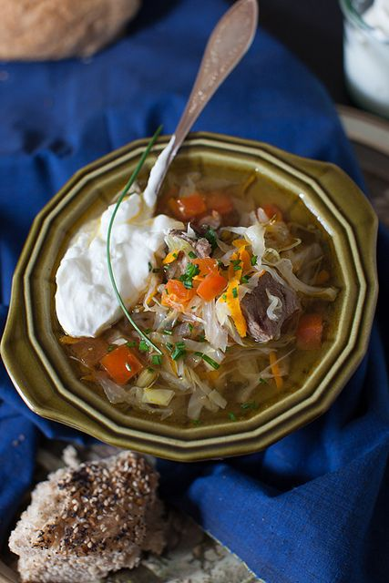 Russian Cabbage Soup - Shchi