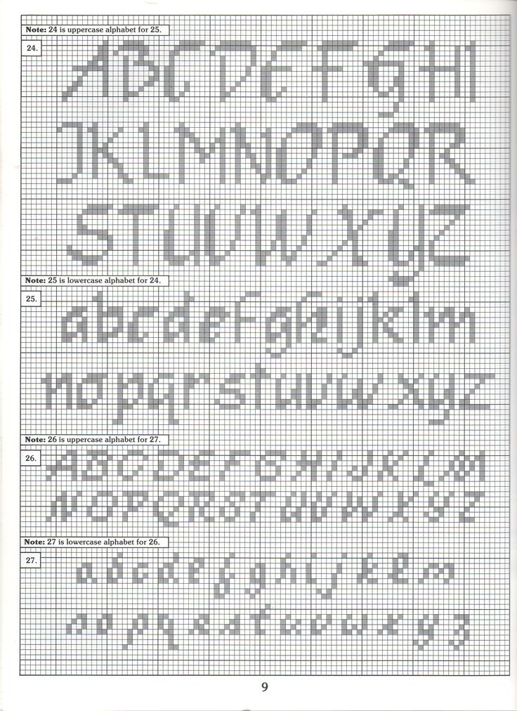 Counted Cross Stitch Letters Dulahotw
