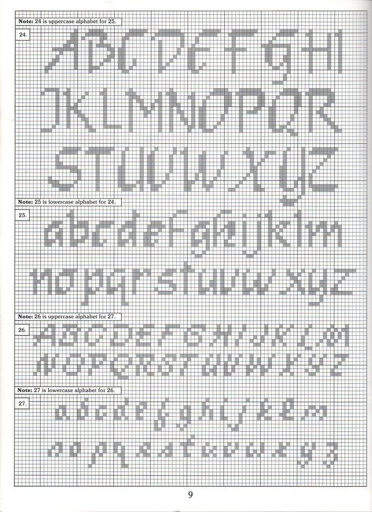 Counted Cross Stitch Letters Newsinvitation