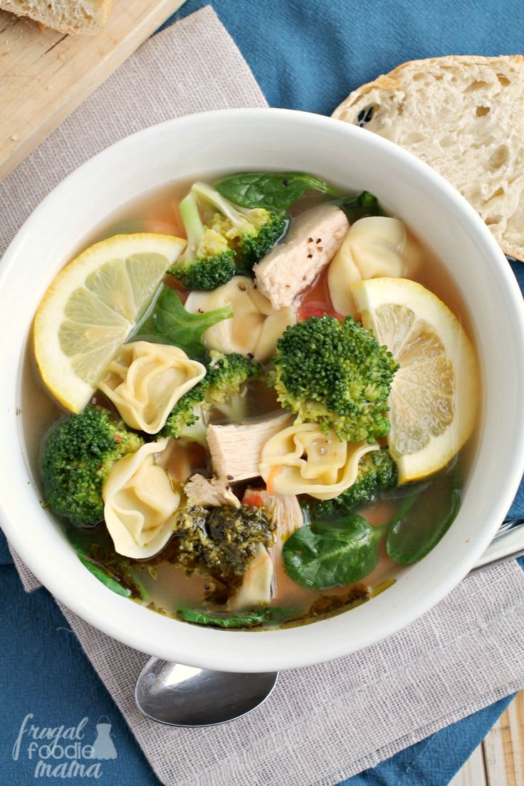 These Italian Chicken & Tortellini Broth Bowls are a budget friendly version of a restaurant favorite that you can have on your dinner table in around 30 minutes.