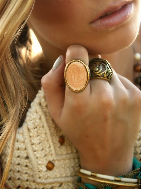 gold #boho ring on index finger - hot!!