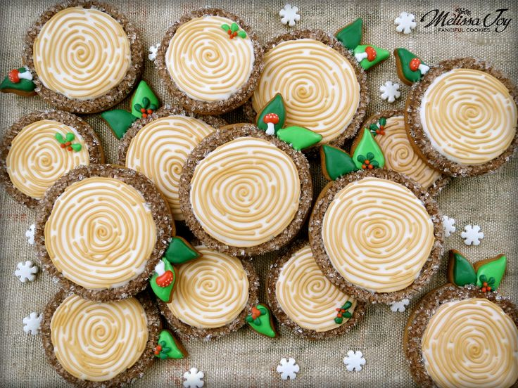 woodland tree log cookies by melissa joy