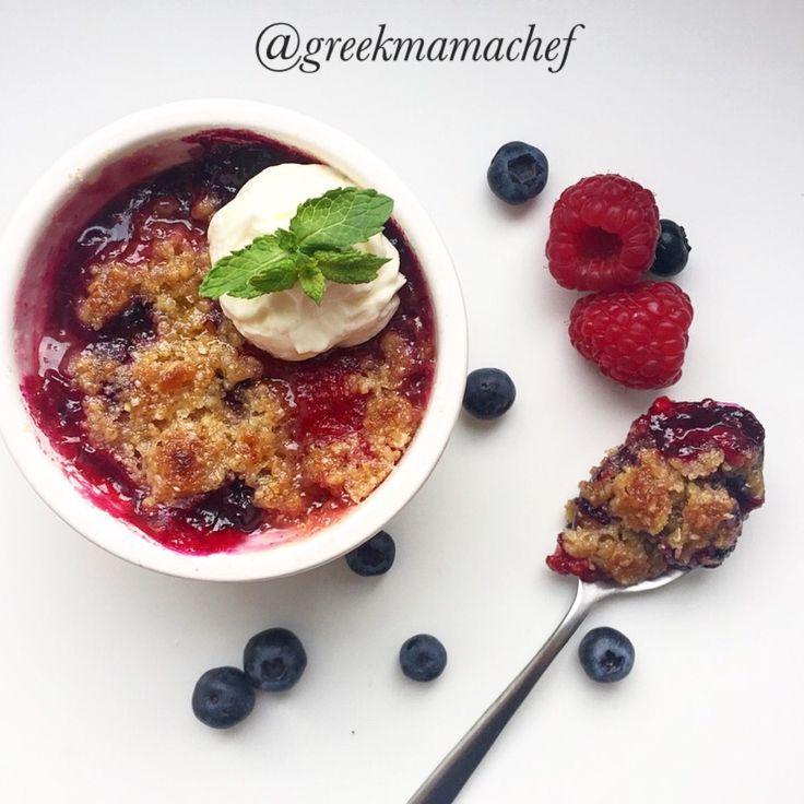Raspberry & Blueberry crumble!