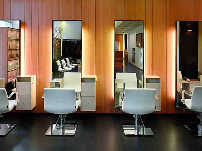 Wonderful Salon Flooring Ideas: Extraordinary Decorating Of Salon Design Love The  Chairs And The Full Length
