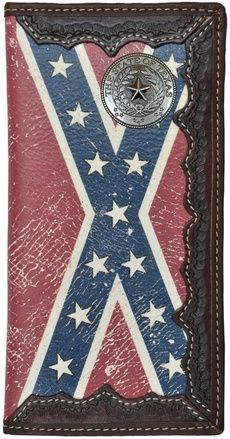 Custom Texas Seal Long Wallet with Distressed Rebel Confederate Flag - For Sale Check more at http://shipperscentral.com/wp/product/custom-texas-seal-long-wallet-with-distressed-rebel-confederate-flag-for-sale/