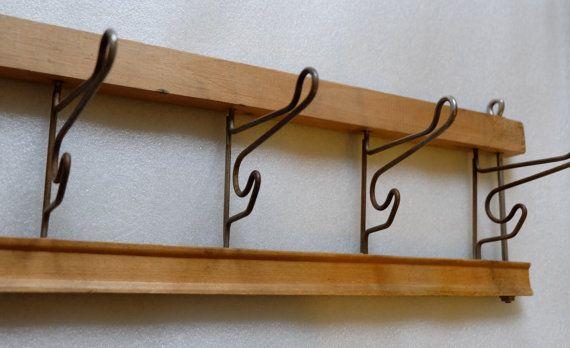 Vintage Folding Rack Soviet folding wall hooks by MadeInTheUSSR