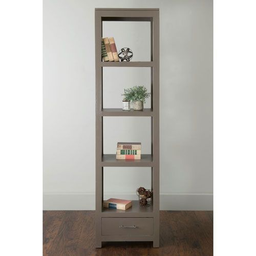 Lancer Grey Mahogany Bookcase East At Main Free Standing Shelves & Bookcases Home Office F