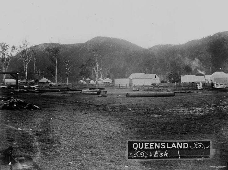 Township of Esk,Queensland in 1900.   🌹