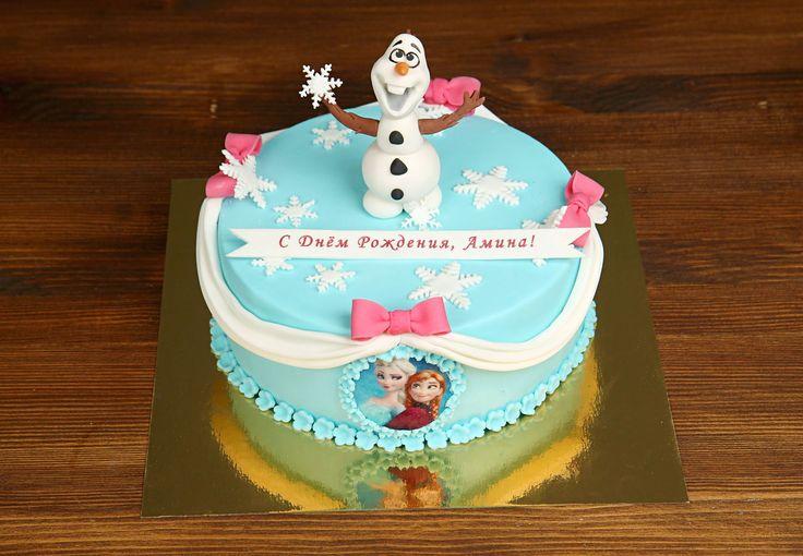"""Детский торт """"Холодное сердце - 5""""  Собираетесь устроить для своего малыша День рождения в стиле мультфильма #холодноесердце и ищете идеи для праздничного торта? Тогда торт с фотопечатью Анны и Эльзы и фигуркой Олафа может быть одним из выбранных вами вариантов😄  С радостью изготовим для вас #детскийторт от 1-го кг и всего за 2150₽/кг😀 Изготовление #фигуркиизмастики олафа включена в стоимость торта  Специалисты #Абелло готовы помочь с выбором красивого и качественного десерта по любому…"""