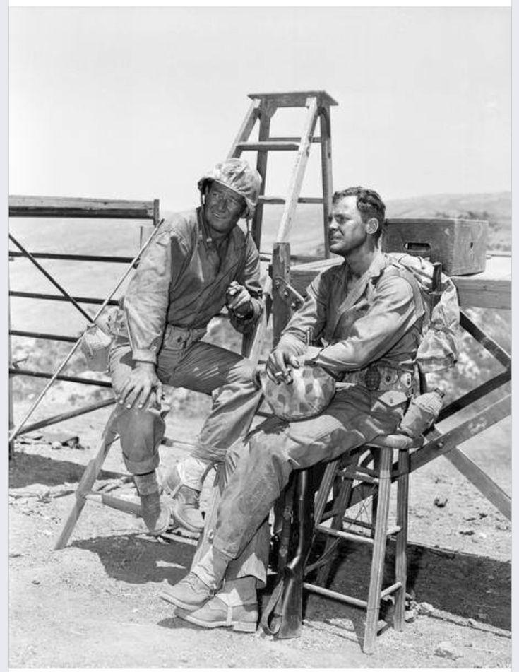 Duke and John Agar - Sands of Iwo Jima