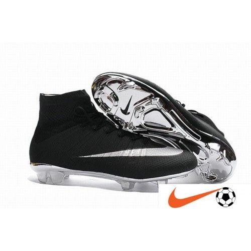 Vente Nike Mercurial Superfly ACC FG Noir Argent Argent-bottom Chaussure De Foot - Nike Mercurial