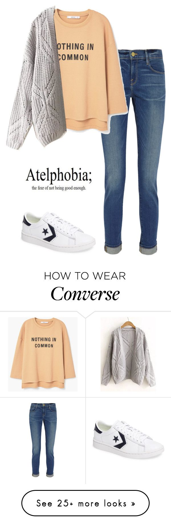 """1/3/2017"" by demibp on Polyvore featuring Frame, MANGO, WithChic and Converse"