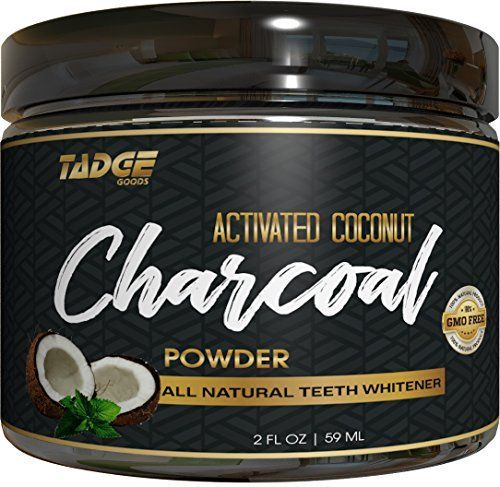 Activated Charcoal Teeth Whitening Powder – Organic Coconut Active Charcoal Tooth Whitener Will Wow You. Use Like Toothpaste & Skip the Strips, Kits and Gel! #TeethWhiteningTips
