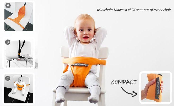 Minichair maakt van iedere stoel een babyzitje