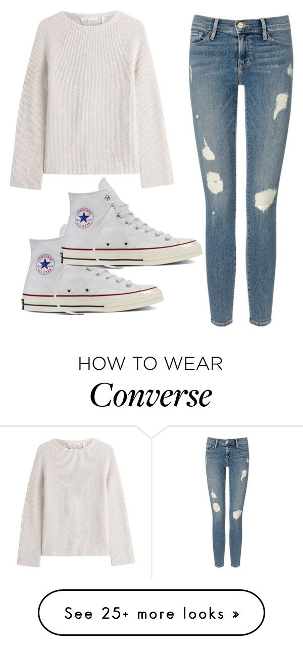 """""""Simple"""" by jenna19monzela on Polyvore featuring Helmut Lang, Frame Denim and Converse"""