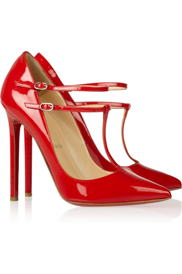#CHRISTIAN LOUBOUTIN V Neck 120 patent-leather pumps