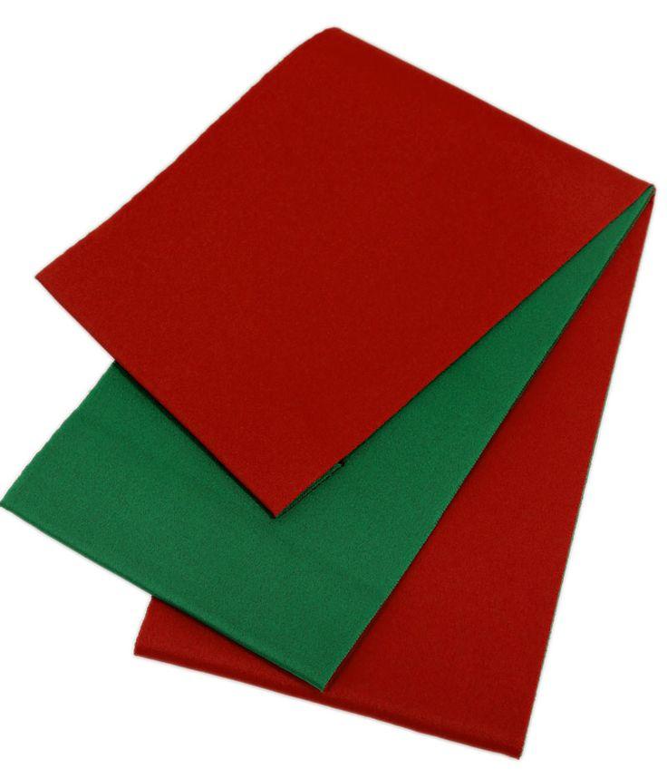 半幅帯 【日本製】シンプル無地  浴衣帯 リバーシブル 赤×緑 111  レディース 女性用