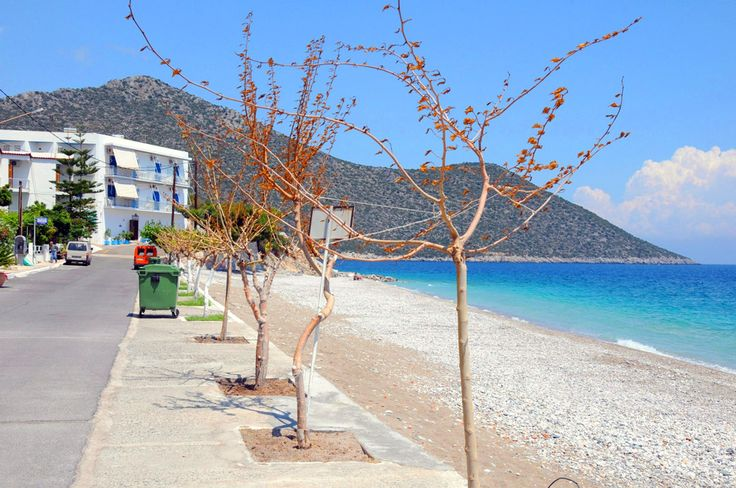 Distant view of our small and friendly hotel in Tyros Peloponnese Greece.