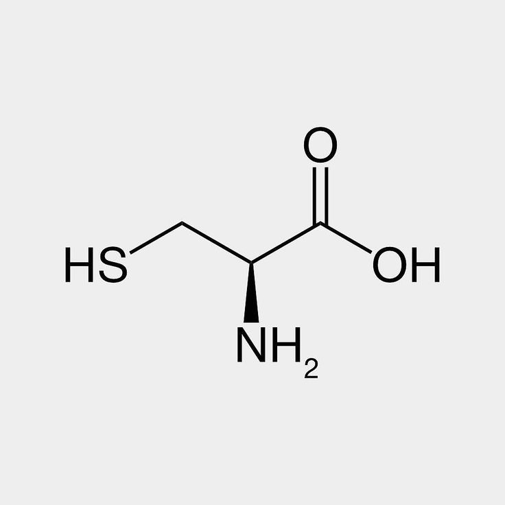 Cysteine (abbreviated as Cys or C) is a semi-essential proteinogenic amino acid. In the field of personal care cysteine is used for permanent wave applications where the cysteine is used for breaking up the disulfide bonds in the hair's keratin. Cysteine has been proposed as a preventative or antidote for some of the negative effects of alcohol including liver damage and hangover.  #ministryofchemistry #chemistry #moleculeoftheday #staynerdy #science #molecule #cysteine #aminoacid #antidote…