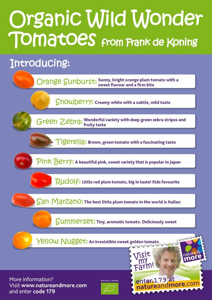 May we introduce you to the  Organic Wild Wonder Tomato Family from Frank. #organic #tomato #wildwondertomatoes #natureandmore #frankdekoning #code 179
