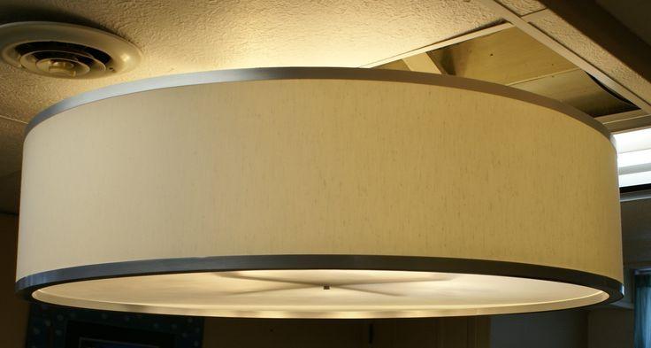 Custom 30 inch and larger Drum Pendant Light Fixture. $350.00, via Etsy.