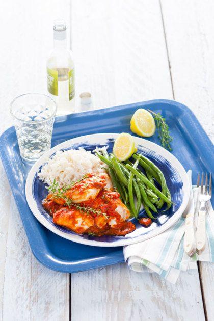 Recept voor schelvis in tomatensaus