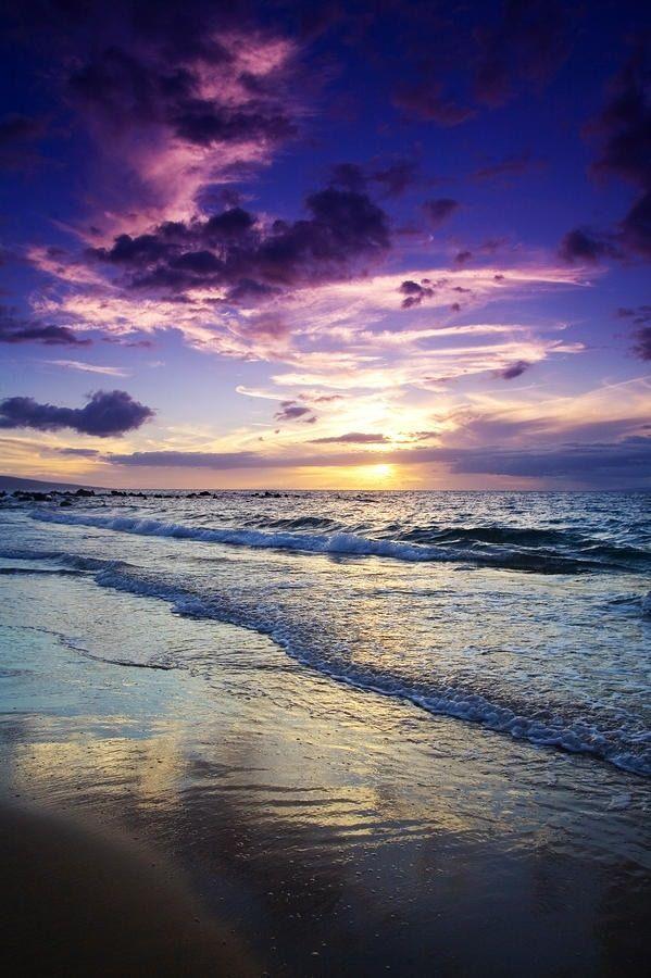 Purple sky. Beautiful!