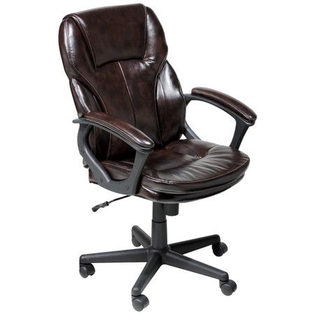 Serta Puresoft Faux Leather Managers Office Chair   Roasted Chestnut Brown    Provide Optimum Support For Your Aching Back With The Serta Puresoft Faux  ...