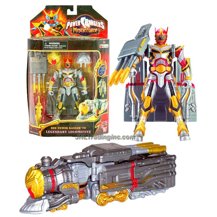Bandai Year 2006 Power Rangers Mystic Force Series 7 Inch Tall Action Figure - RED POWER RANGER to LEGENDARY LOCOMOTIVE with Blaster and Sword