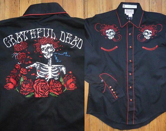 Rockmount Ranch Wear Men s western shirt XL Special Ltd Grateful Dead  Bertha Skull   Roses 9cdb3875ef0c