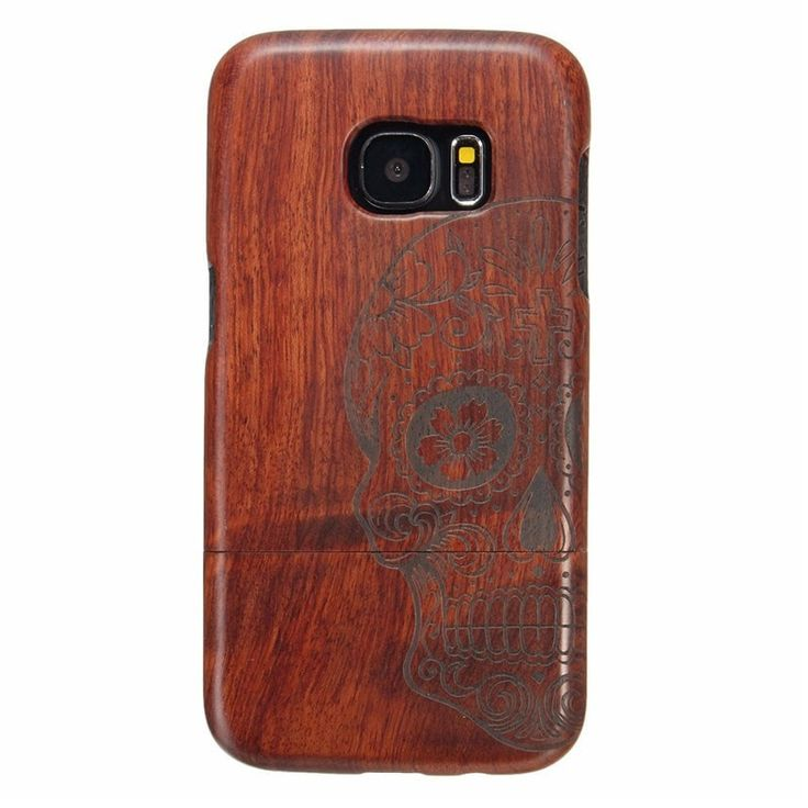 Galaxy S7 Mobile Phone Relief Wooden Case Back Cover Protector  #phone