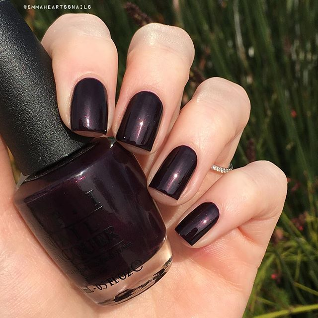OPI Black Cherry Chutney. Two coats! #opi #blackcherrychutney #opiblackcherrychutney #opiobsession #notd #nailsoftheday #nailoftheday #nails2inspire #nailsofinstagram #nailsofinsta #nailsofig #nailboarders #nailboard #mani #manicure #nailpolish #nailpolishaddict #staypolished