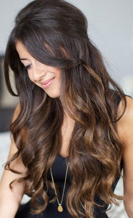 22 chocolate brown ombre human hairthickclip in hair by Hair4daze