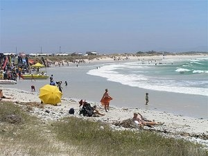 The beach at Cape Agulhas