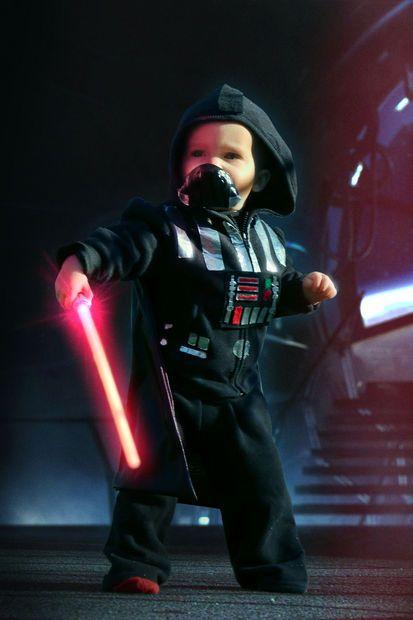 Toddler Darth Vader Costume DIY