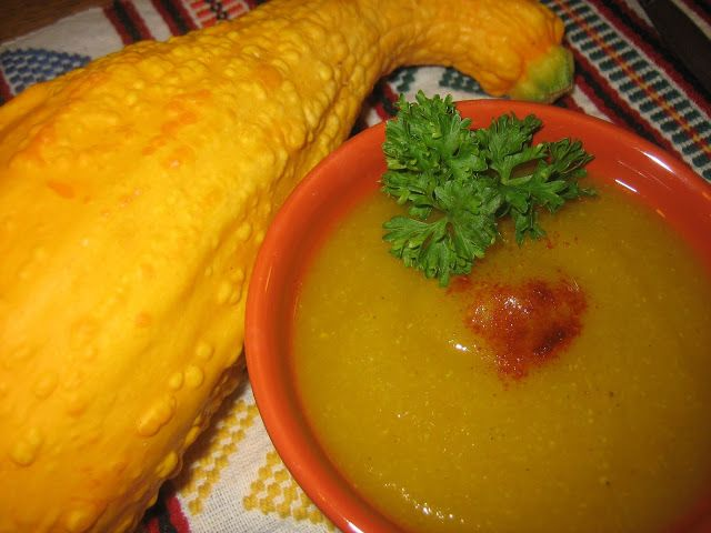 Pureed Pzazz: Crookneck Squash Soup with Curry and Ginger