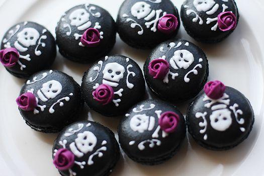 ハロウィンマカロン : coupe-feti - Halloween skull macarons