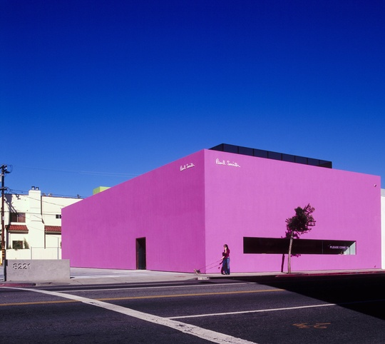 Paul Smith, Los Angeles shop.   Quite stunning.  Love the use of colour. Anywhere, anytime, anyplace!!