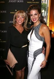 Frankie's daughter, Antonia, with Renee Marino, from the Jersey Boy's movie.