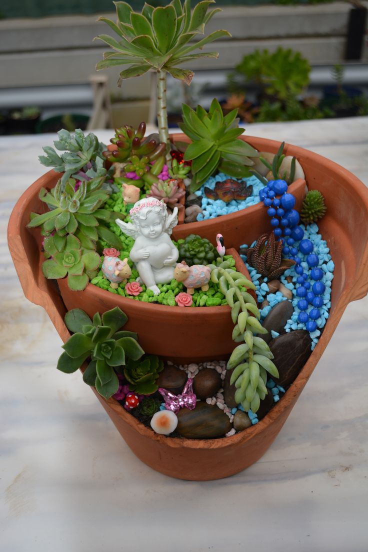 'Where Angels Play' - Succulent pot.
