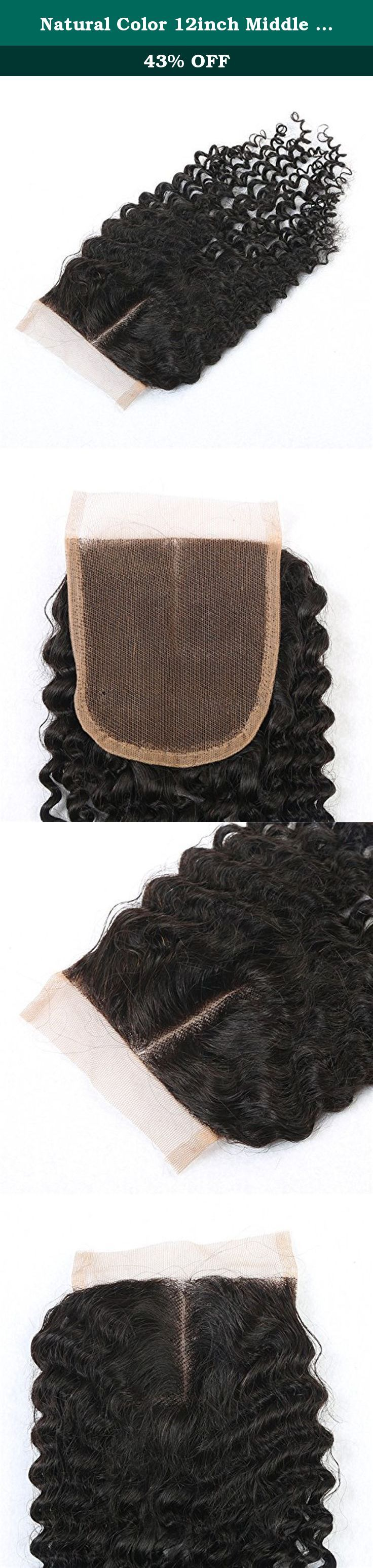 Natural Color 12inch Middle Part Kinky Curly Lace Closure With Baby Hair 4*4 Lace Top Closure At Mxangel. Product details: Hair Material: 100% Peruvian human remy hair Texture: kinky curly, perm or curl is okay, can be restyled according your need! Lace size: swiss lace 4*4 8inch~20inch available middle part Weight: 30g~40g/pc Color: unprocessed natural color, can be dyed and bleached Quality: no tangle, no shedding, no chemical additive, 7A human remy hair Service: excellent customer...