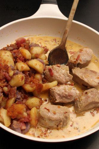 Filet mignon aux ptits lardons et pommes de terre